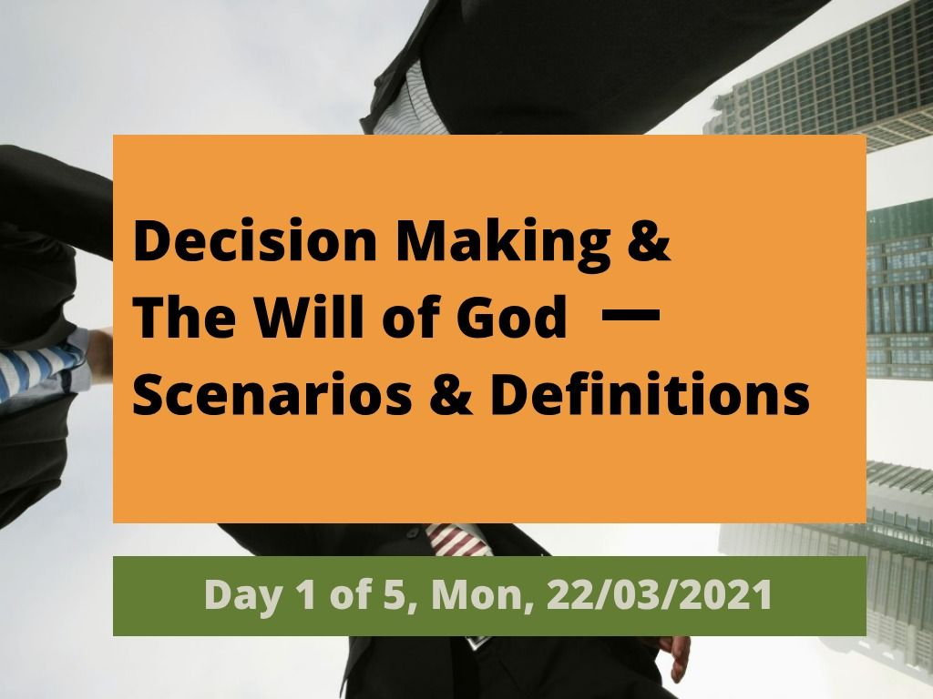 Will of God - Day 1