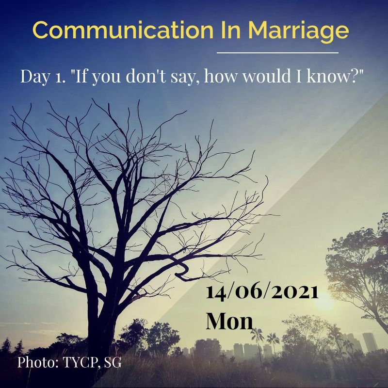 communication in marriage - day 1