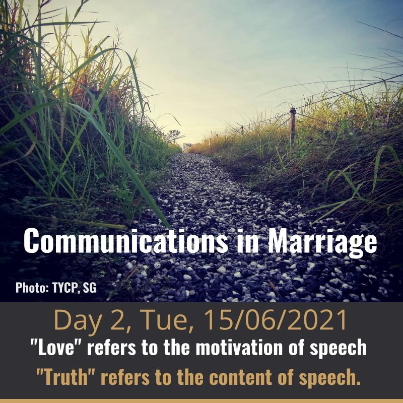 communication in marriage - day 2