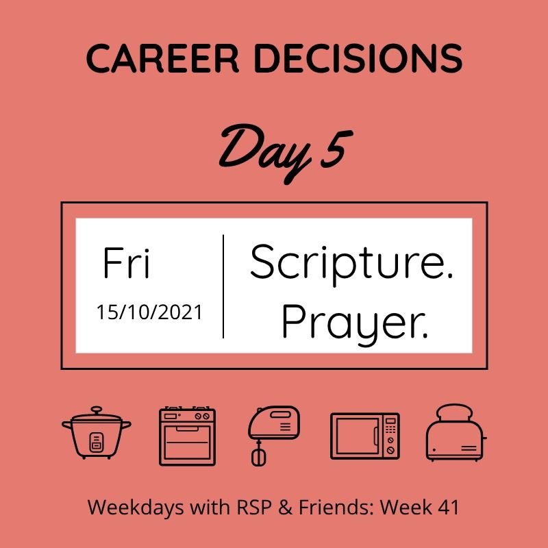 career decisions - day 5